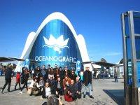 Grupo de visita al Oceanografico