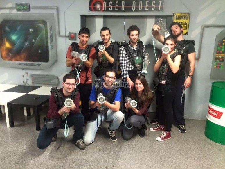 Grupo laser tag