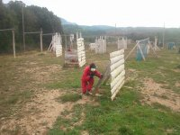 Obstaculos en el escenario de paintball