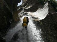 rappel en cascada