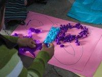 Mariposa con papel de colores