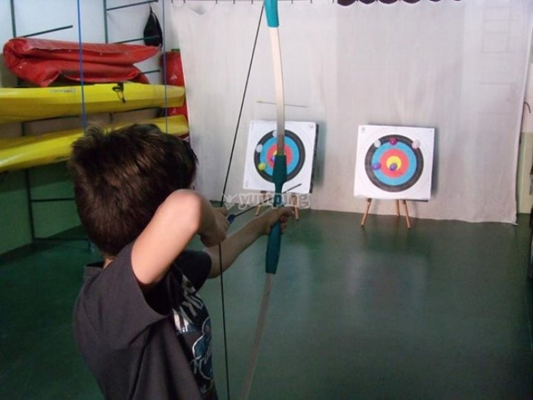 Clase de tiro con arco