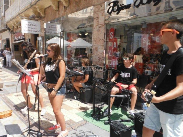 卡塔赫纳的流行摇滚表演