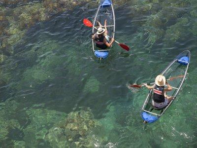 Ruta kayak transparente Sant Feliu de Guixols