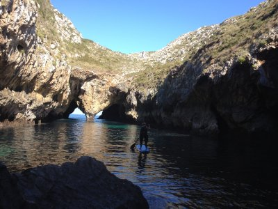 2h SUP class + guided route in Llanes