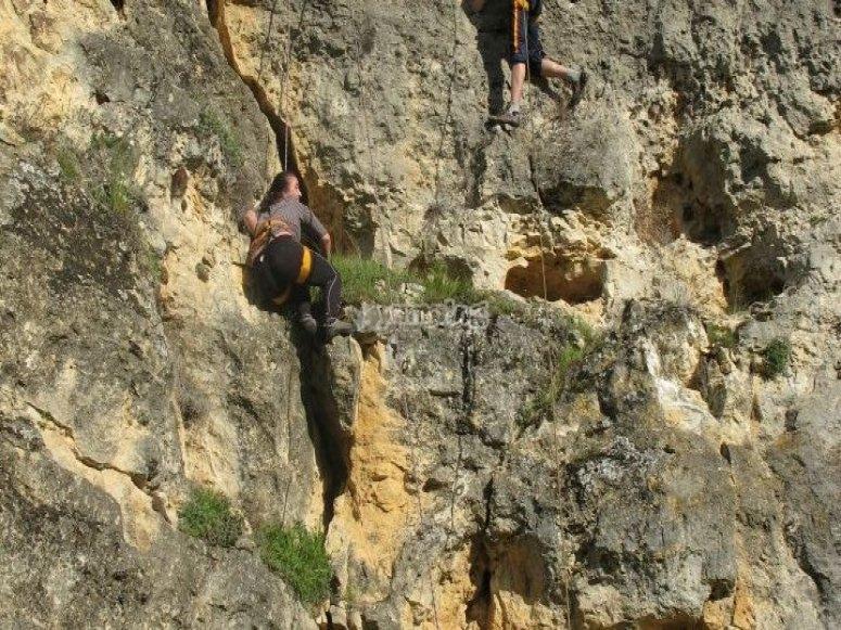 在卡斯蒂利亚高原附近攀登