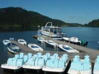 dock wall & pedal boats