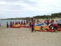 Kayaks in the beach