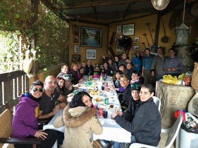 Clase de equitación y comida oferta familias