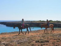Horseback route next to the sea