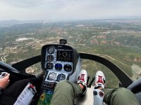 Espectaculares vistas desde el helicóptero