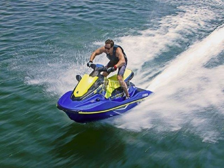 Route in Jet ski by the Ibizan waters