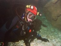 Underwater caving