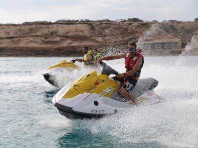 Ruta en moto de agua a Isla Conejera 45 minutos
