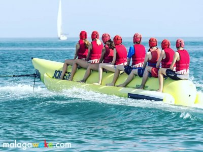 Banana boat in the Costa del Sol 15 min