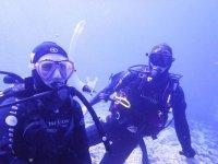跳水在特内里费岛的潜水课程在特内里费