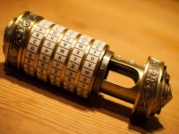 Cryptex with hidden message