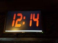Monitor con tiempo restante