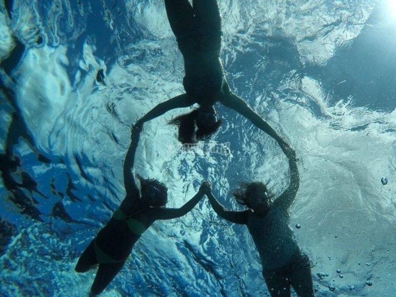 snorkel en Ciutadella