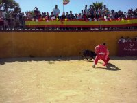 Bullfighting in the capea