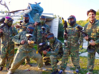 Paintball football in Estepona 200 balls