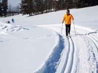 esquiando por el circuito
