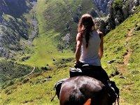 Descenso de la ruta a caballo