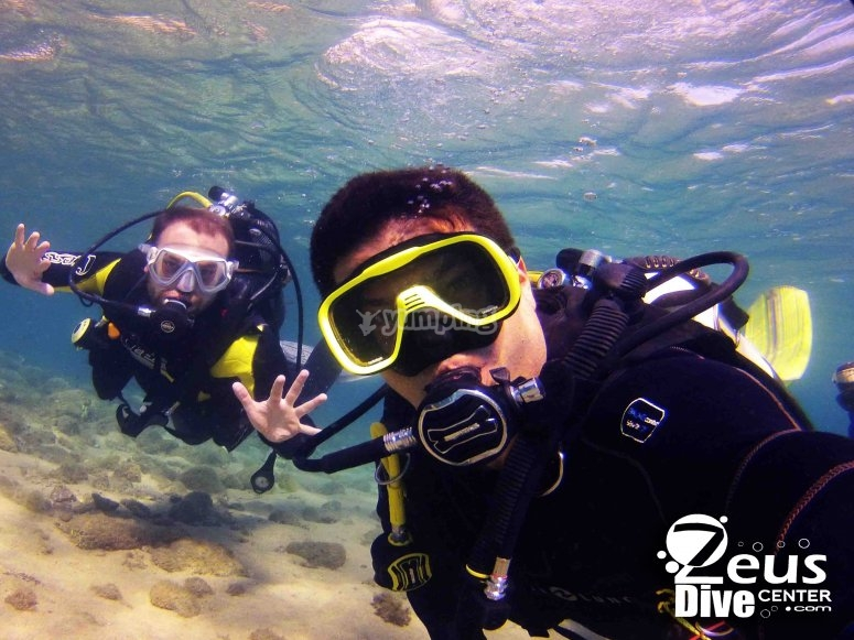 Material completo de buceo