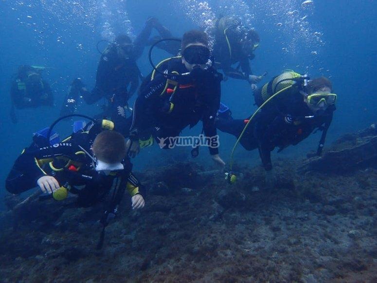 在马斯帕洛马斯潜水