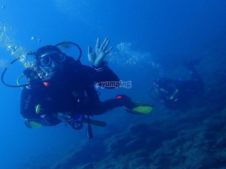 潜入大西洋水域