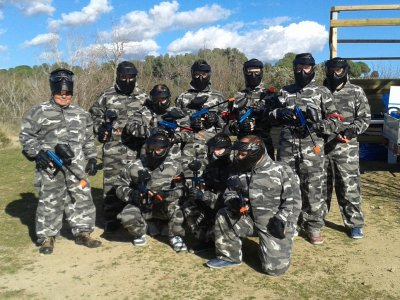 Paintball match in Caldesde Montbui 250 paintballs
