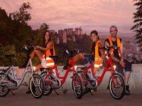 tramonto con bici