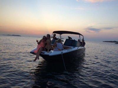 Private match ride Ibiza sunset