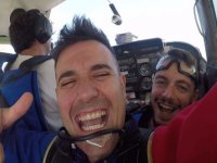A tandem jump with an external camera