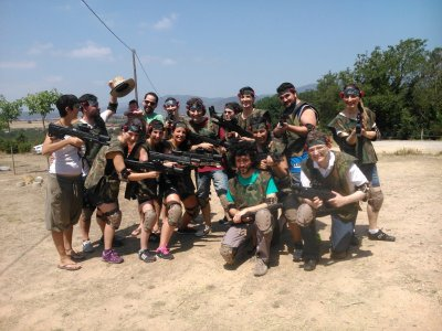 Team Building laser tag+paintball Barcelona