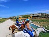 穿越Sanlúcarde Barrameda的骑马