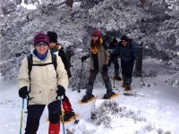 Snowshoeing baptism in Guadarrama for adults