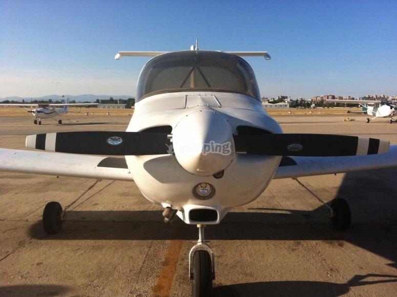 Avion parte frontal