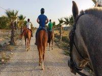 家庭骑马穿越Sanlúcar