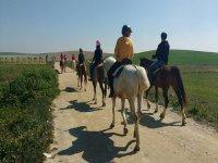 沿着Sanlúcar公路骑马