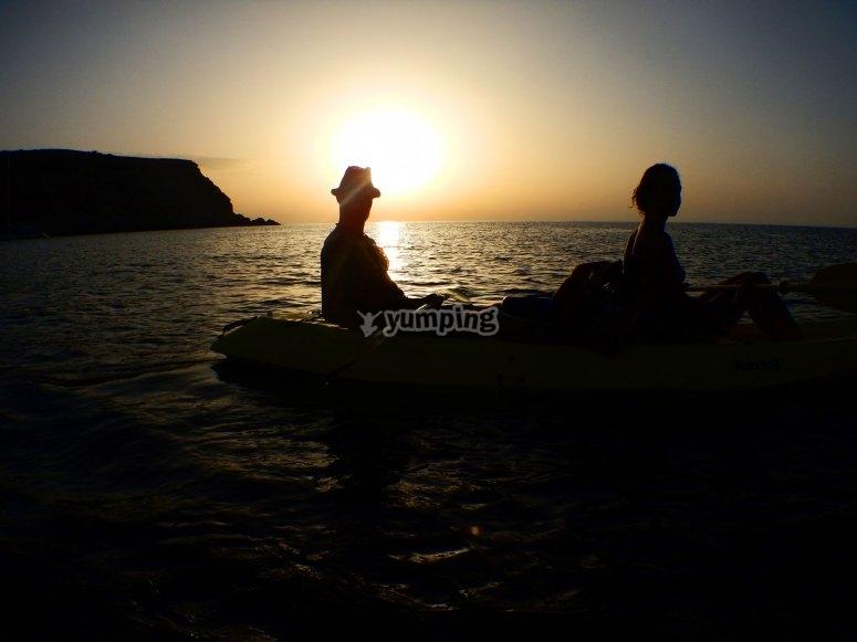 Kayak a contraluz
