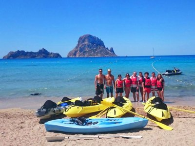 4h kayak route in Ibiza for inhabitants
