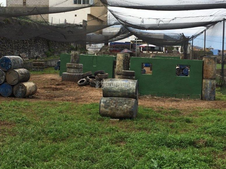 Escenario de paintball en La Orotava