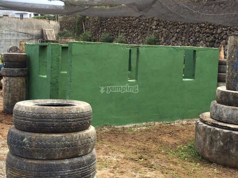 Structures of the paintball field