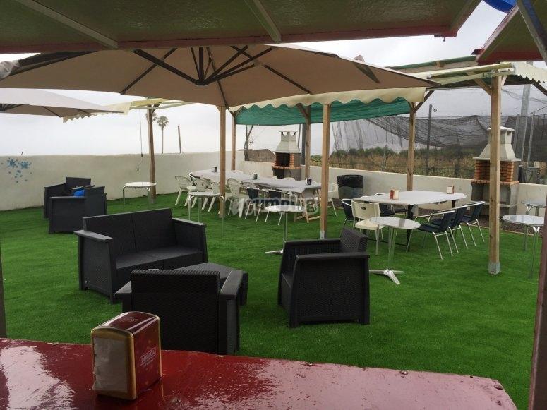 Paintball scenario in La Orotava
