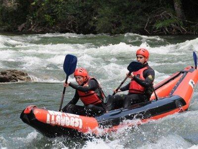Descenso en canoas por el río Noguera Pallaresa