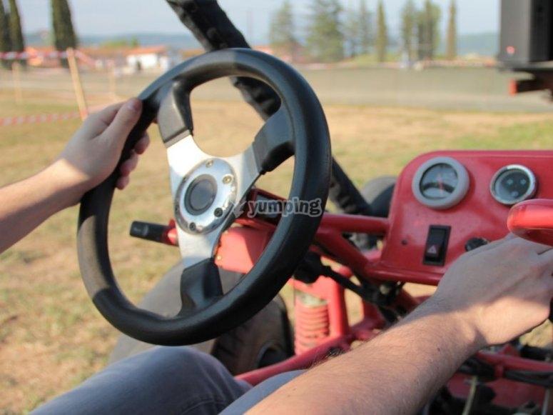 Sujetando el volante