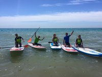 Fun with paddle surf