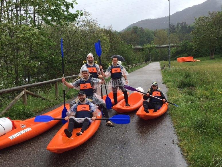 In 1-seater kayaks