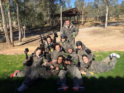 Paintball game in Llerena 200 balls